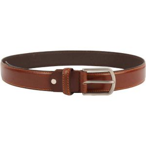 eXcorio  Men Formal Tan Genuine Leather Belt-008