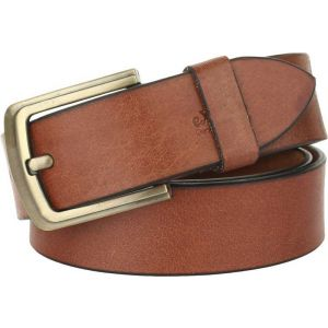 eXcorio  Men Casual Tan Genuine Leather Belt-010