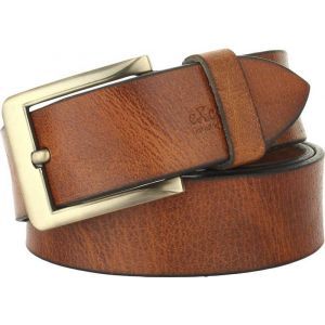 eXcorio  Men Casual Brown Genuine Leather Belt-011