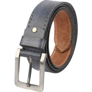 eXcorio  Men Casual Blue Genuine Leather Belt-015