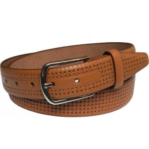 eXcorio  Men Formal Tan Genuine Leather Belt-017