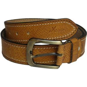 eXcorio  Men Casual Tan Genuine Leather Belt-018