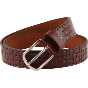 eXcorio  Men Party Brown Genuine Leather Belt-019