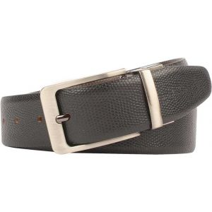 eXcorio  Men Formal Black Genuine Leather Reversible Belt-020