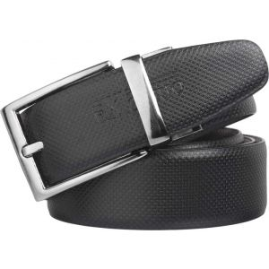 eXcorio  Men Formal Black Artificial Leather Reversible Belt-022