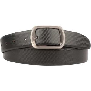 eXcorio  Men Formal Black Genuine Leather Reversible Belt-025