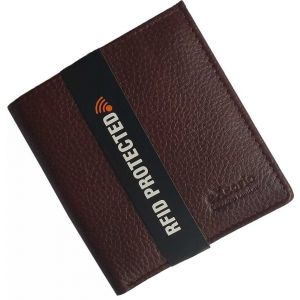 eXcorio  Men Formal Brown Genuine Leather Wallet  (12 Card Slots)