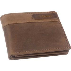 eXcorio  Men Trendy Tan Genuine Leather Wallet  (5 Card Slots)