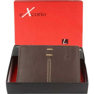 eXcorio  Men Trendy Tan Genuine Leather Wallet  (9 Card Slots)