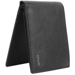eXcorio  Men Black Genuine Leather Wallet  (12 Card Slots)