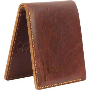 eXcorio  Men Brown Genuine Leather Wallet  (6 Card Slots)