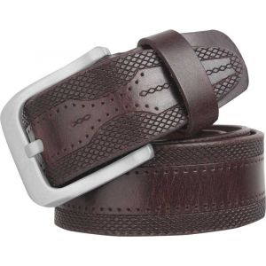eXcorio  Men Casual Brown Genuine Leather Belt