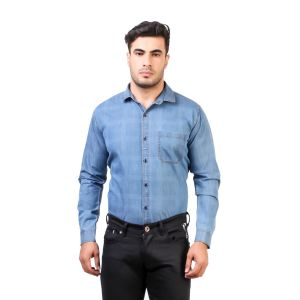 DesignUp  denim  Shirt for Men's-006