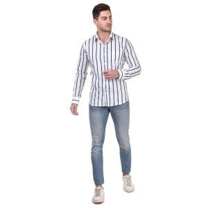 DesignUp Blue Stripes Shirt for Mens-0051