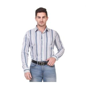 DesignUp Blue Stripes Shirt for Men's-023