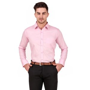 DesignUp Pink Solid Shirt for Men's-017