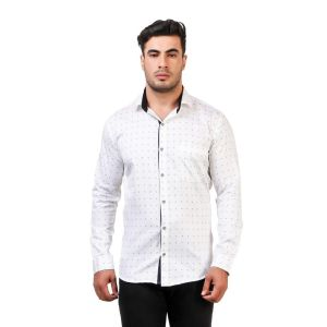 DesignUp White Printed Shirt for Men's