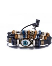No Mercy Unisex Black Evil Eye Bracelet