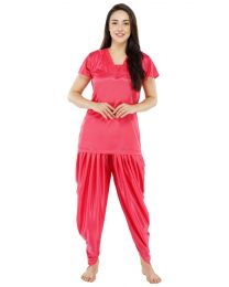 Creer Fashion Red Afghani Night Wear Pack of 1