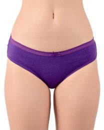 TEUSY  Women Hipster Purple Panty