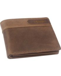 eXcorio  Men Tan Genuine Leather Wallet  (9 Card Slots)