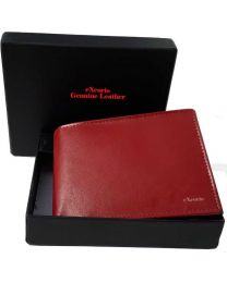 eXcorio  Men Red Genuine Leather RFID Wallet  (4 Card Slots)