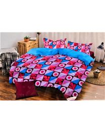 City Red Printed Double BedSheet