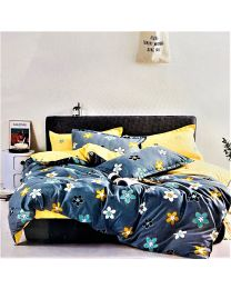 City Flower Printed Double Bed Sheet