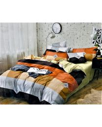 City Multicolor Printed Double BedSheet