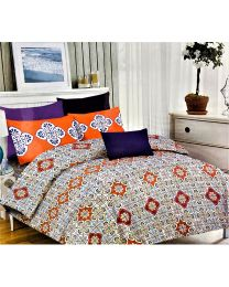 City Designed Printed Double Bed Sheet