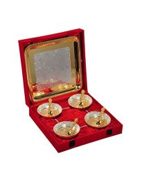 MSW Silver & Gold Plated Bowl- Pack 4