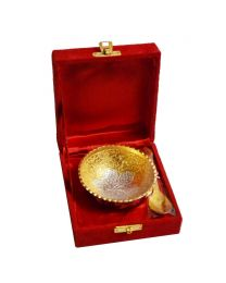 MSW Silver & Gold Plated Bowl- Pack of 1
