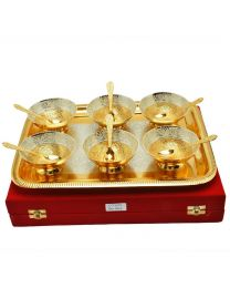 MSW Brass Gold Plated Bowl- Pack of 6