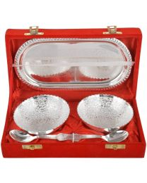 MSW Silver Plated Brass Bowl- Pack of 2