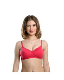 Teusy  Padded Bra with Transparent Strips-008