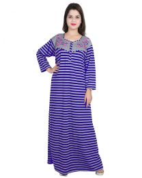 Seema Free Size Blue Woolen Nighty for Women's-008