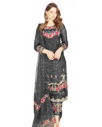 Harihar Black Unstitched Suit for Women's and Girl's-001