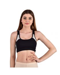 Teusy detachable  Padded Black Sports Bra -011