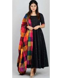 Kala Gown Black Kurti for Women's-0010