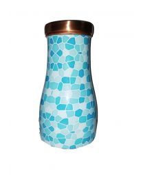 MSW Blue Printed Bedroom Copper Bottle-1000ml