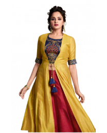 KALA DESIGN WITH CHOLI HAVY EMBROIDERY WORK FULL STITCH FOR WOMEN's-005