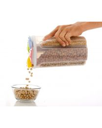 LOOZITO 4 section Cereal Dispenser  2000 ml Polypropylene Grocery Container