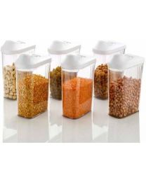 LOOZITO Easy Flow 6 Pcs Set of 1  1700 ml Polypropylene Cereal Dispenser