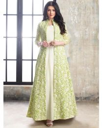 Kala Gown Cream color Kurti For Women's -002