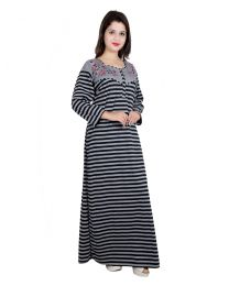 Seema Free Size Grey Color Nighty For Wome's-005