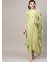 Navya creations light Green Kurti with Dupatta & Plazzo-NC-002