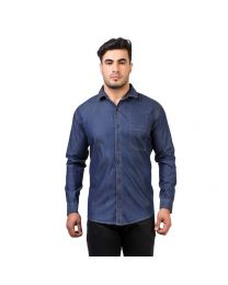 DesignUp  Blue Denim  Shirt for Men's-007