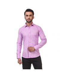 DesignUp Pink Solid Shirt for Men's-014