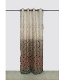 City Multi color Long Curtains (7ft) Pack of 2
