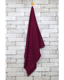 City Long Towel Solid Brown